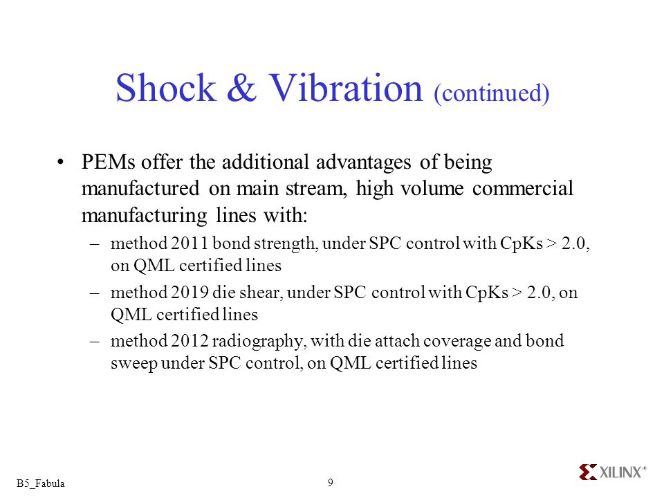 Shock & Vibration (continued)