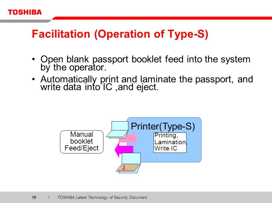 Facilitation (Operation of Type-S)
