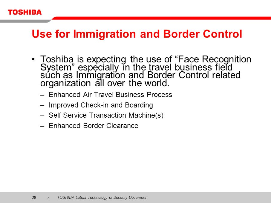 Use for Immigration and Border Control