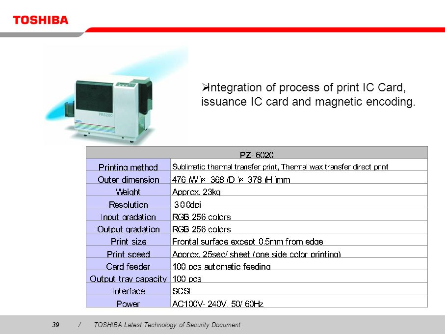 IC Card Printer Integration of process of print IC Card, issuance IC card and magnetic encoding.