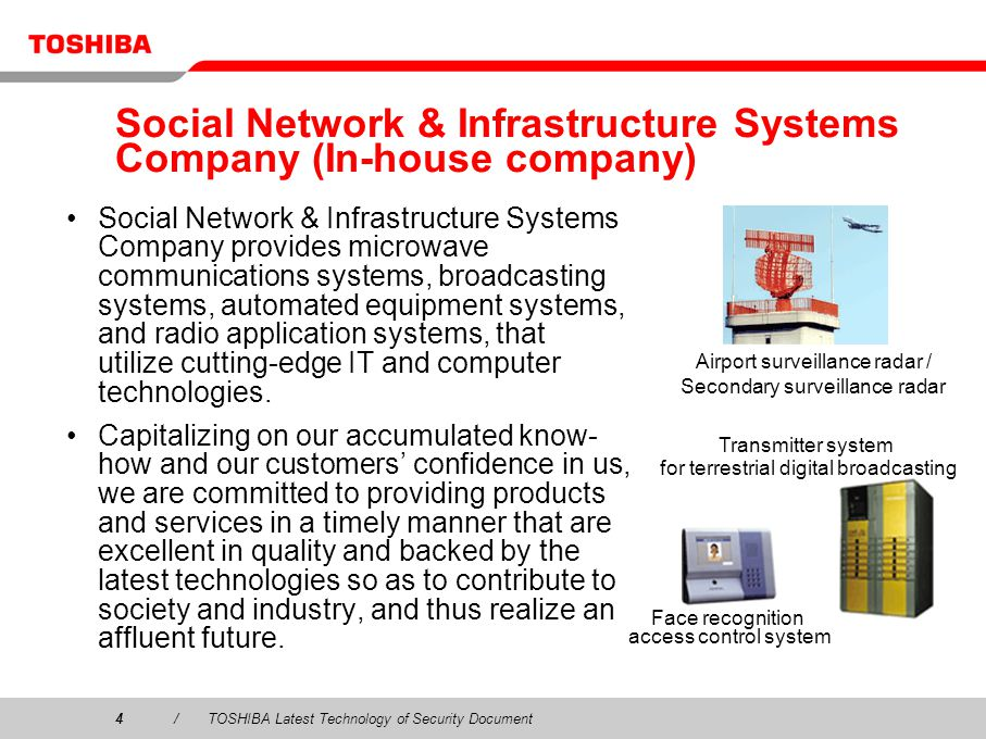 Social Network & Infrastructure Systems Company (In-house company)