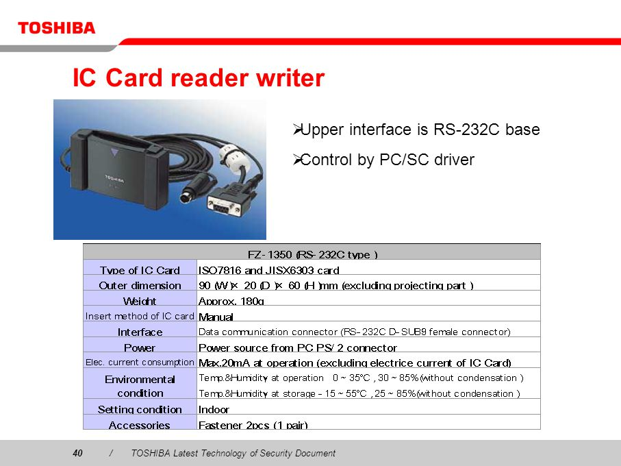 IC Card reader writer Upper interface is RS-232C base