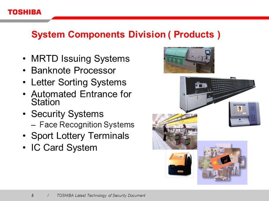 System Components Division ( Products )