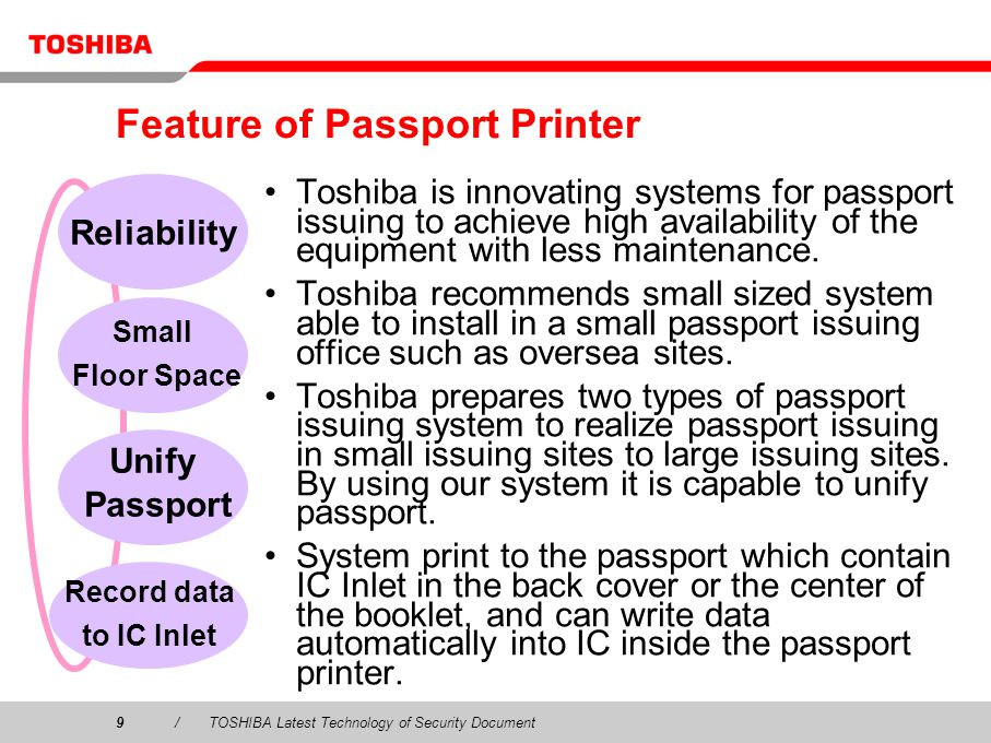 Feature of Passport Printer