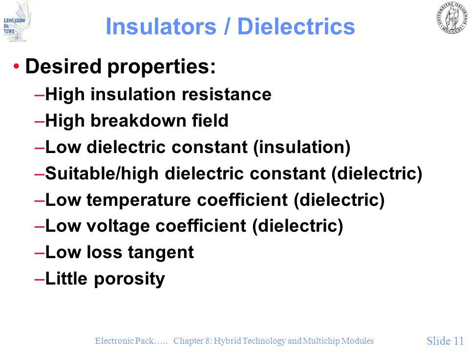 Insulators / Dielectrics