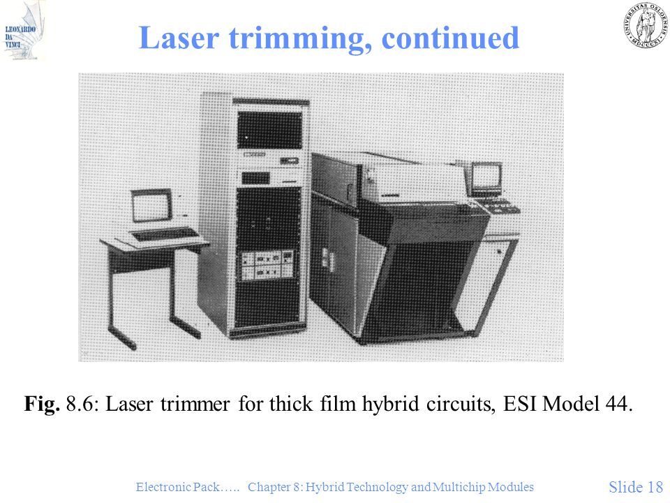 Laser trimming, continued