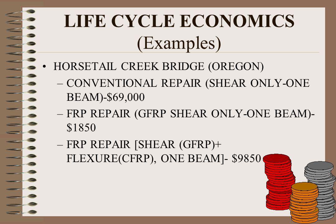 LIFE CYCLE ECONOMICS (Examples)