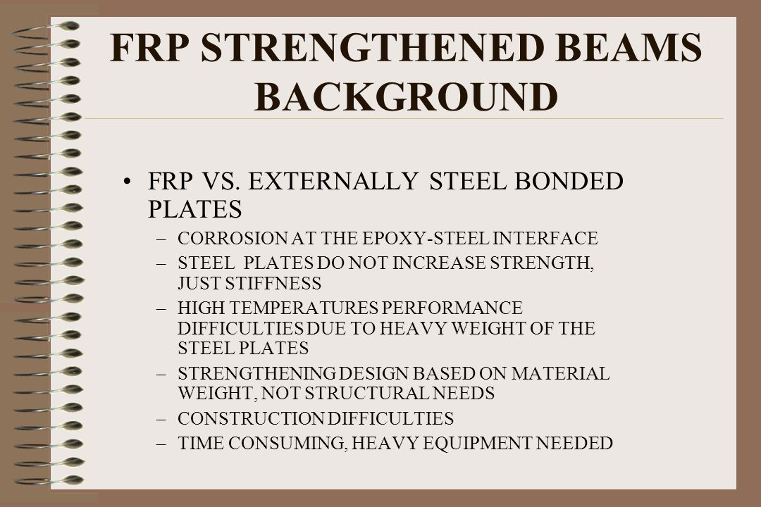 FRP STRENGTHENED BEAMS BACKGROUND