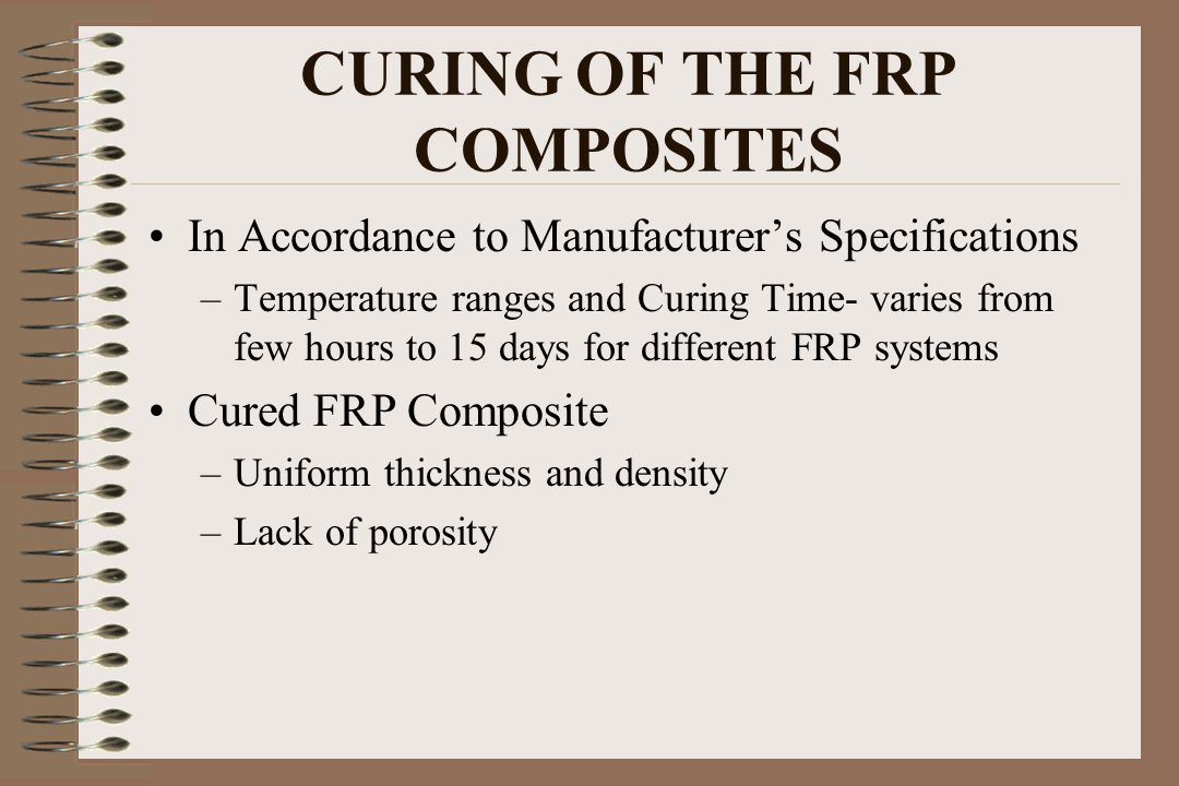 CURING OF THE FRP COMPOSITES
