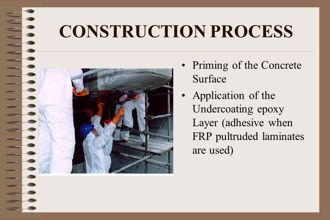 CONSTRUCTION PROCESS Priming of the Concrete Surface
