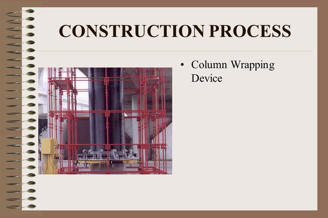 CONSTRUCTION PROCESS Column Wrapping Device