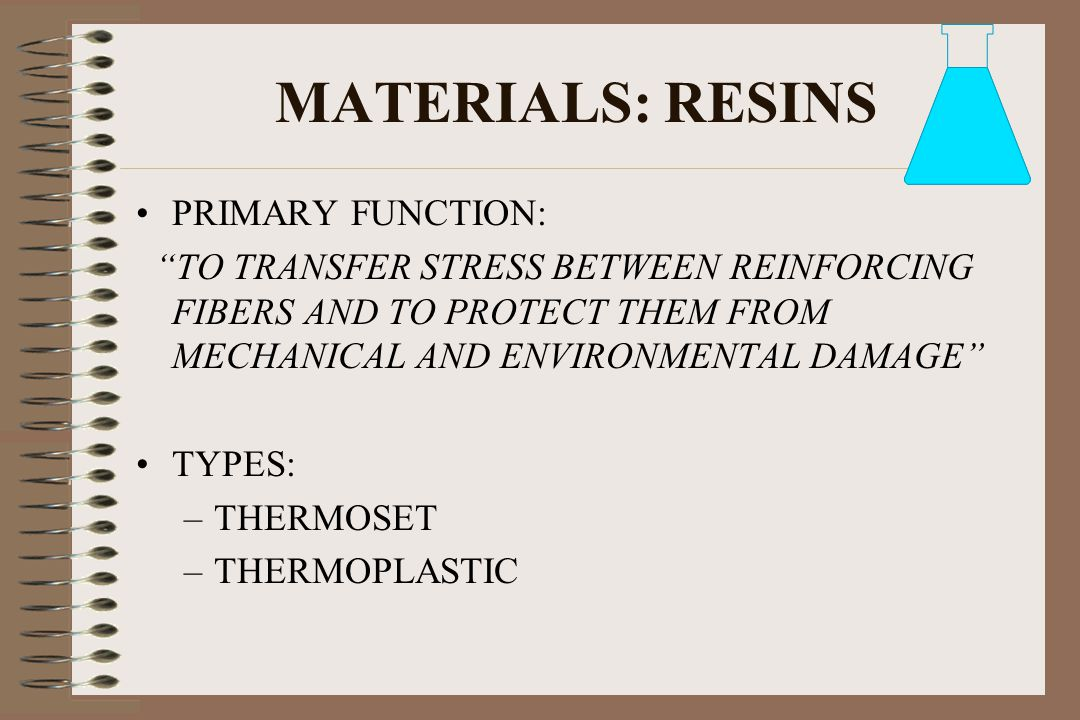 MATERIALS: RESINS PRIMARY FUNCTION:
