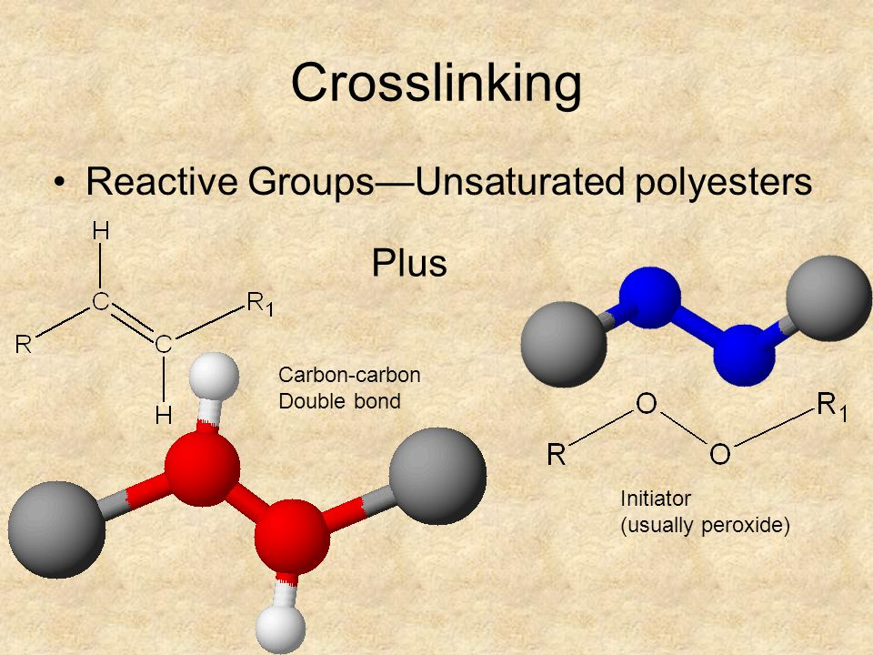 Crosslinking Reactive Groups—Unsaturated polyesters Plus Carbon-carbon