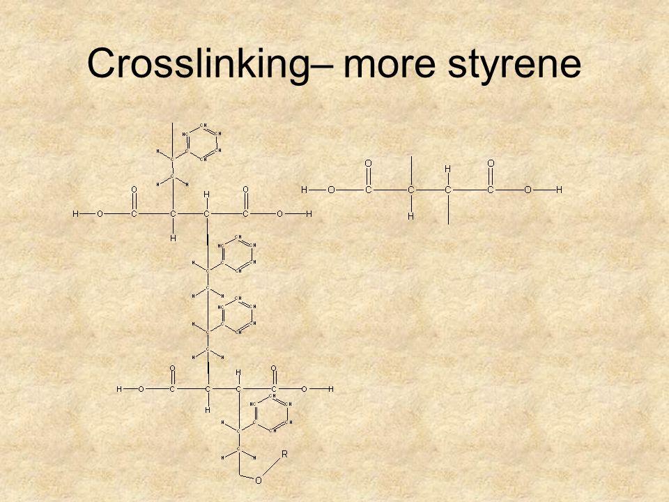 Crosslinking– more styrene