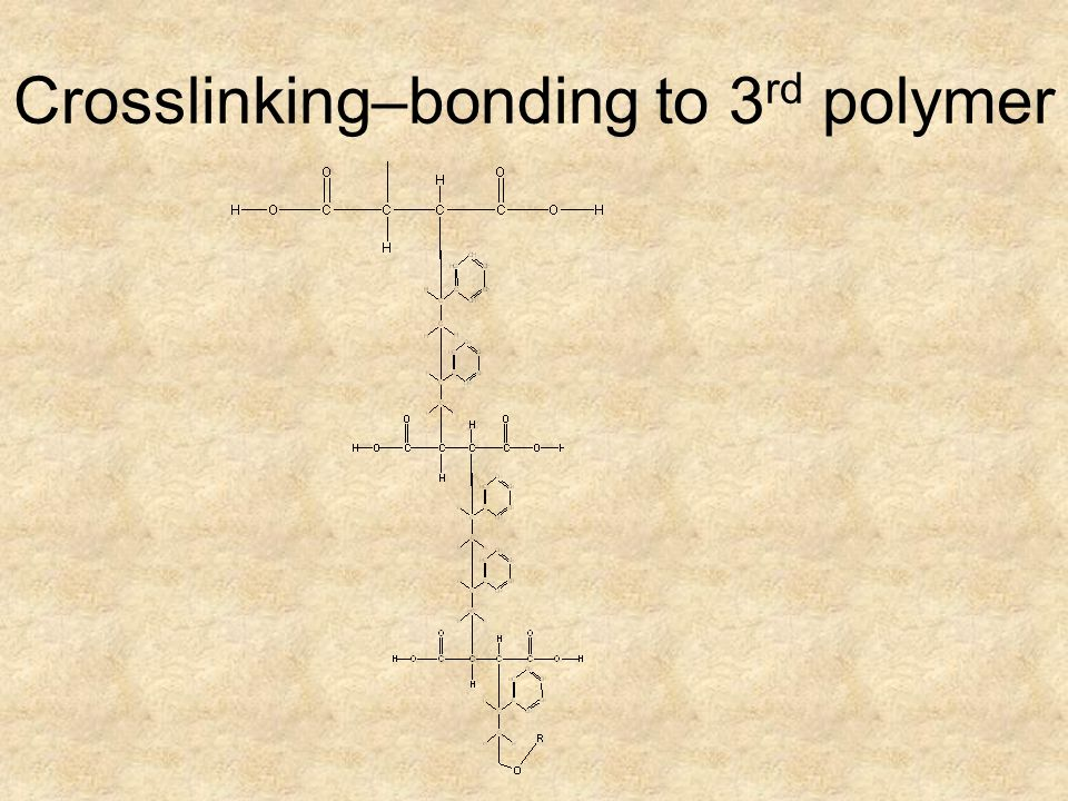 Crosslinking–bonding to 3rd polymer