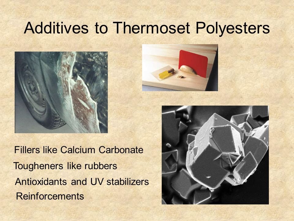 Additives to Thermoset Polyesters