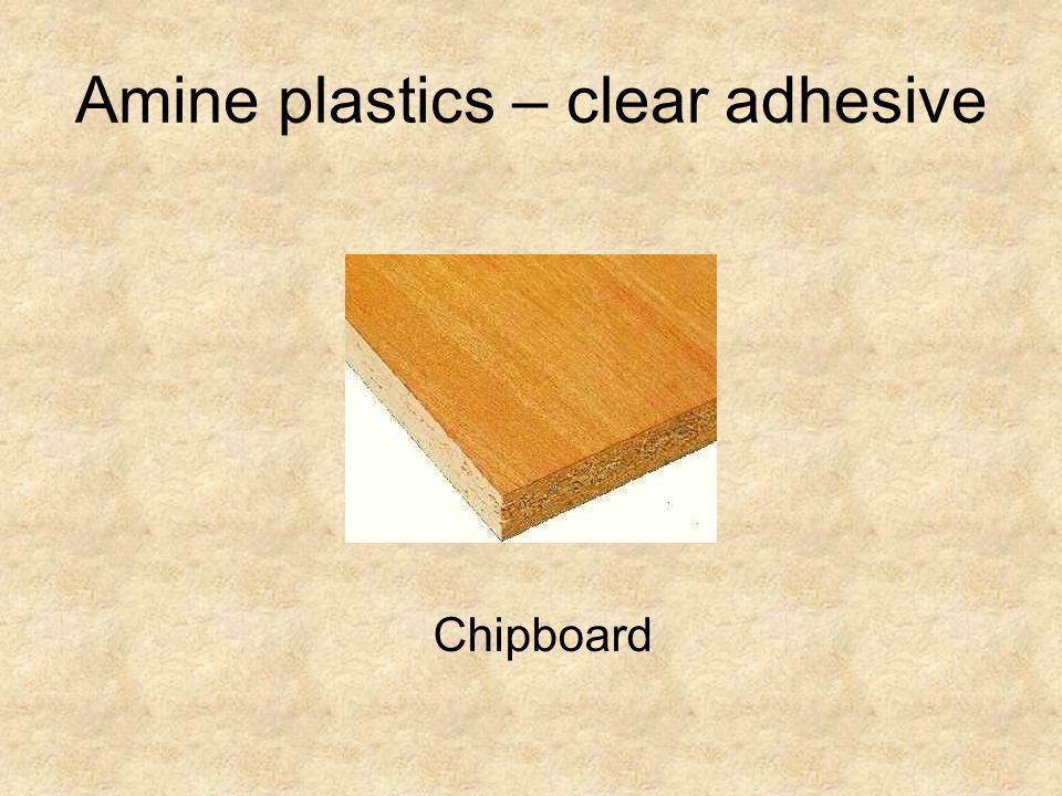 Amine plastics – clear adhesive
