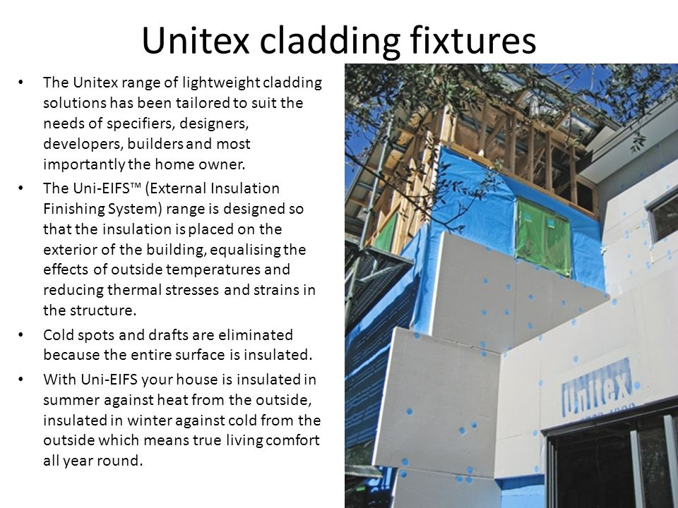 Unitex cladding fixtures