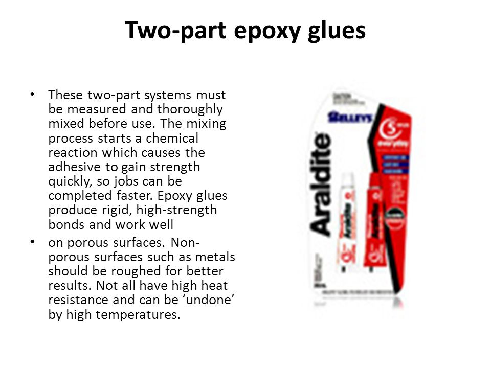 Two-part epoxy glues