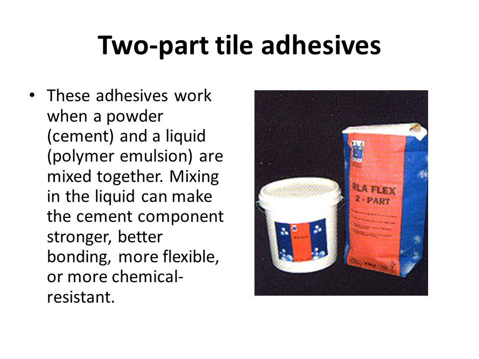 Two-part tile adhesives