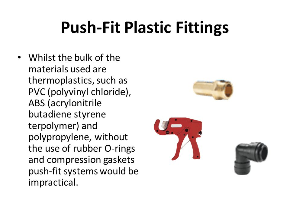 Push-Fit Plastic Fittings