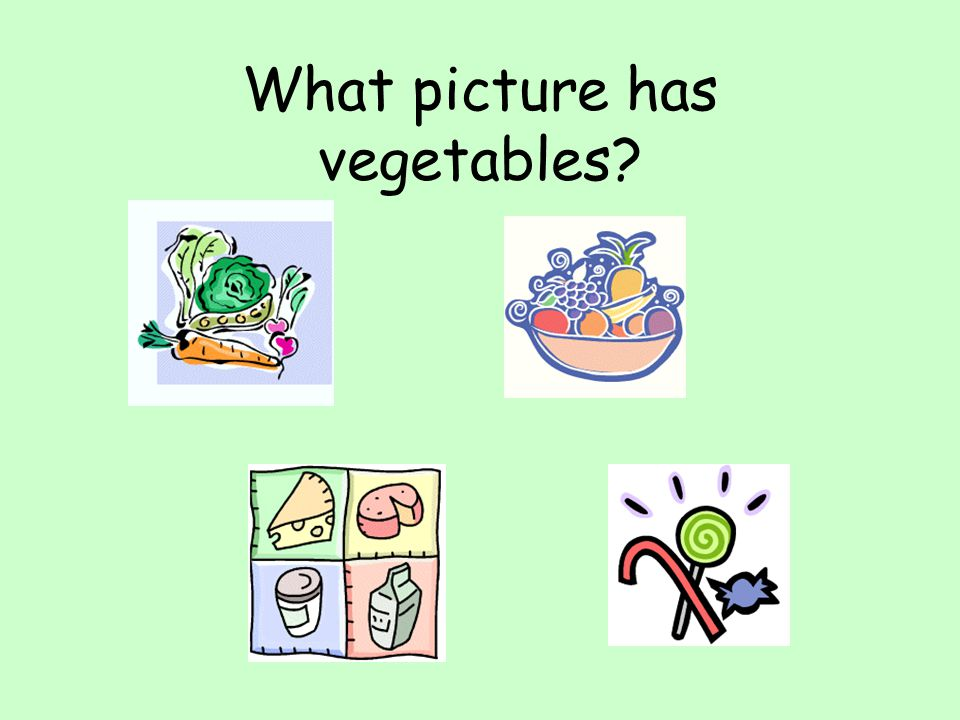 What picture has vegetables