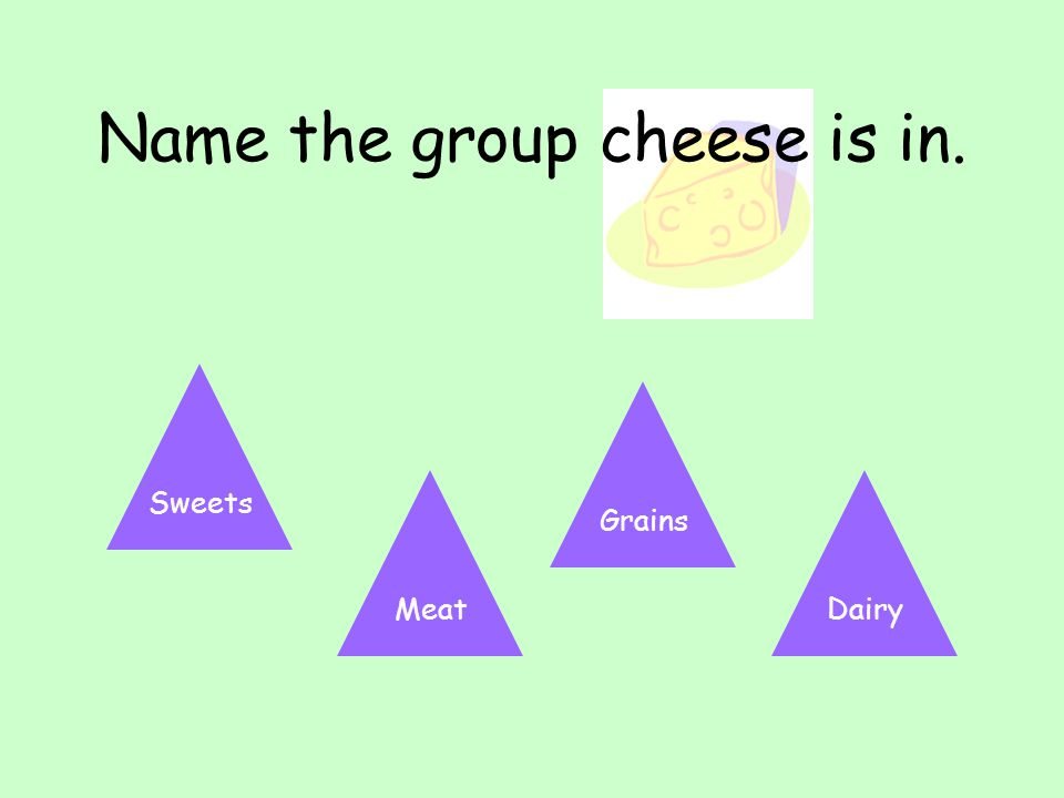 Name the group cheese is in.