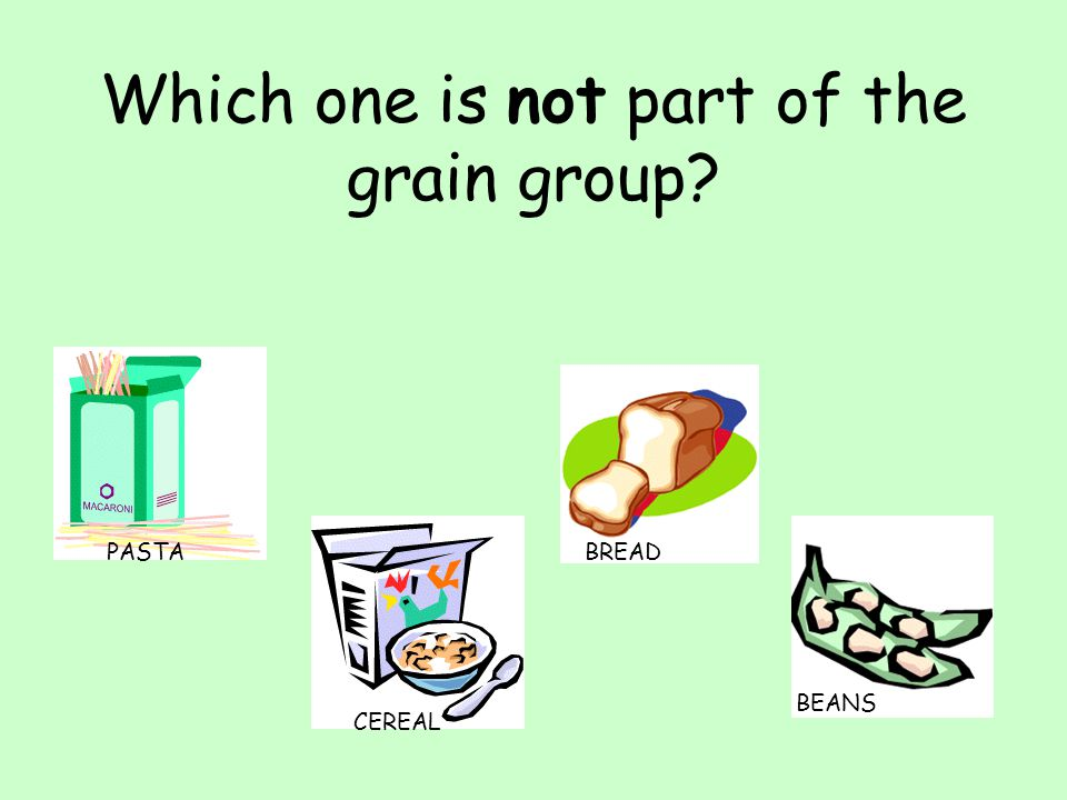 Which one is not part of the grain group