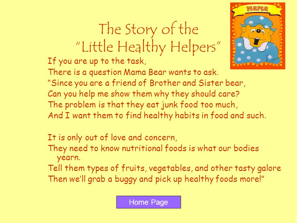 The Story of the Little Healthy Helpers