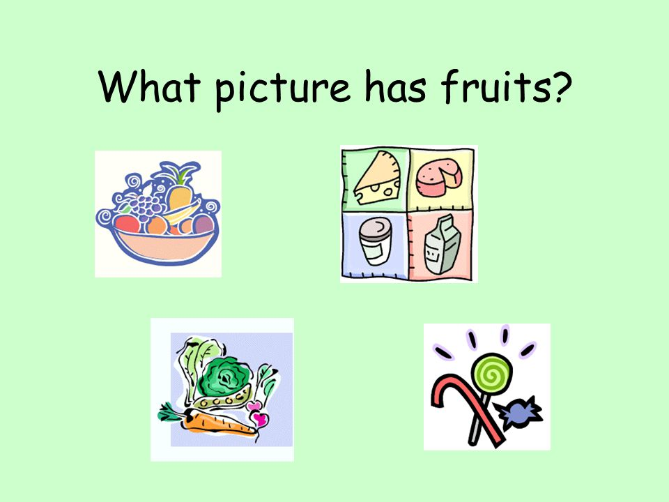 What picture has fruits
