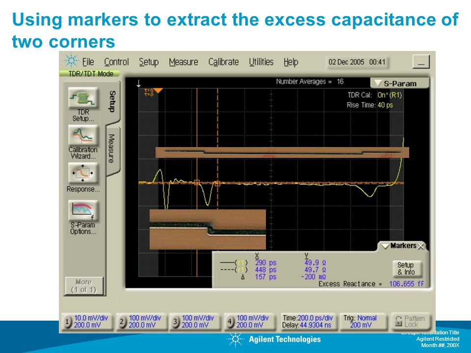Using markers to extract the excess capacitance of two corners