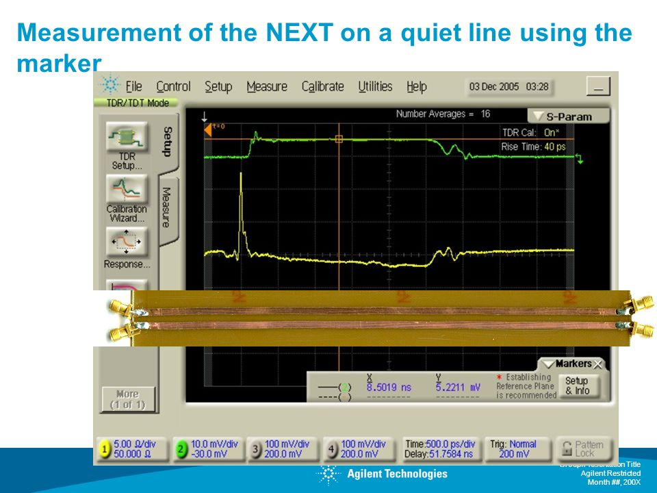 Measurement of the NEXT on a quiet line using the marker