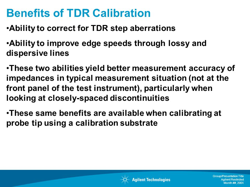 Benefits of TDR Calibration