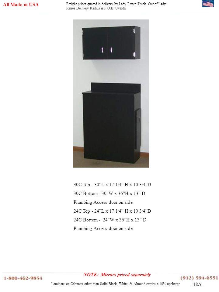 Plumbing Access door on side 24C Top - 24 L x 17 1/4 H x 10 3/4 D