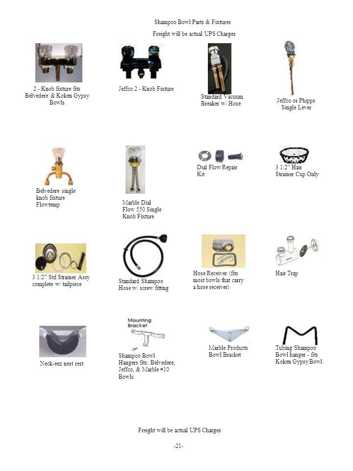Shampoo Bowl Parts & Fixtures
