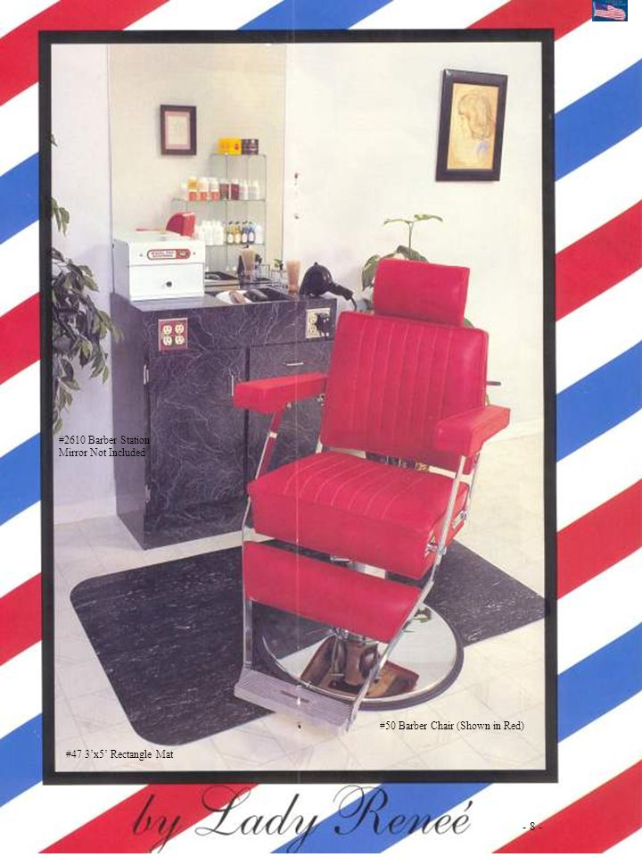 - 8 - #2610 Barber Station Mirror Not Included