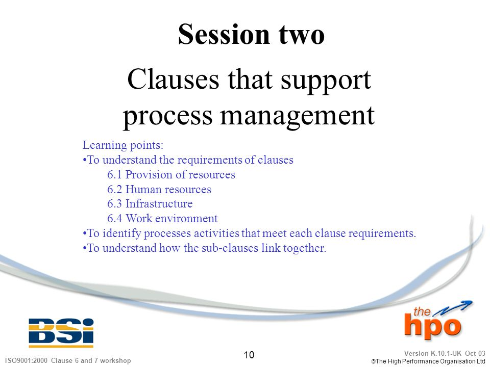 Clauses that support process management