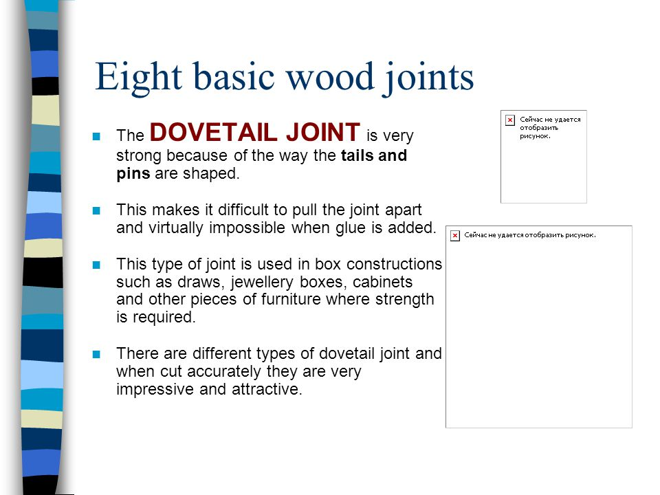 Eight basic wood joints