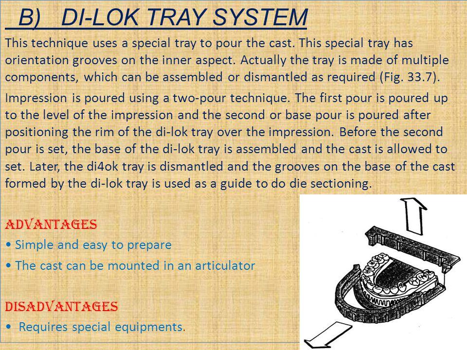 B) DI-LOK TRAY SYSTEM