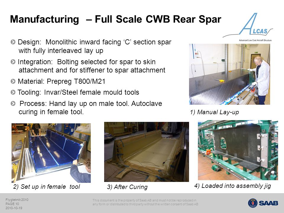 Manufacturing – Full Scale CWB Rear Spar
