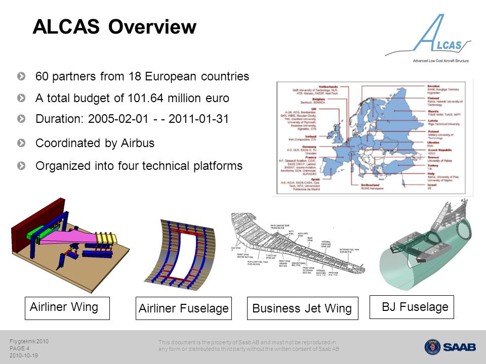 ALCAS Overview 60 partners from 18 European countries