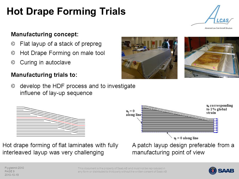Hot Drape Forming Trials