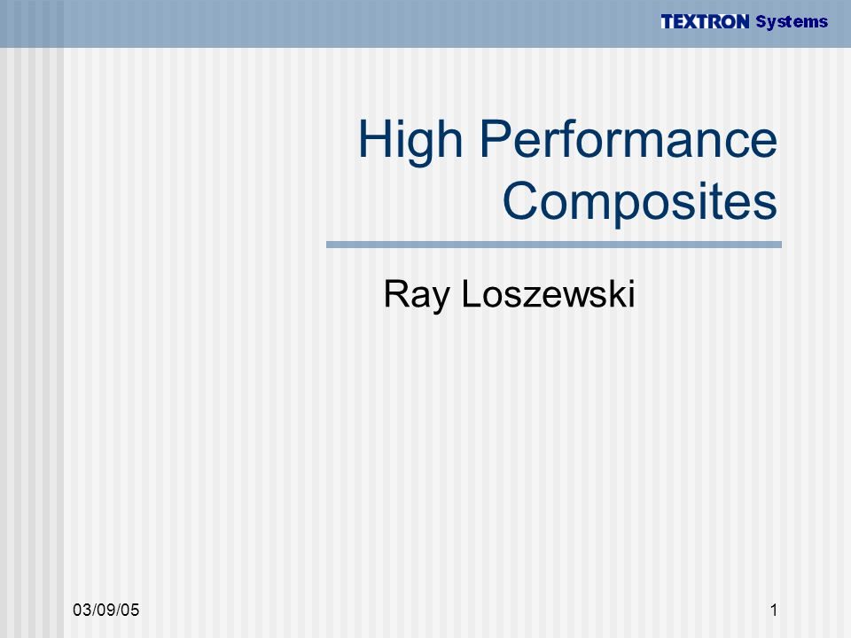 High Performance Composites