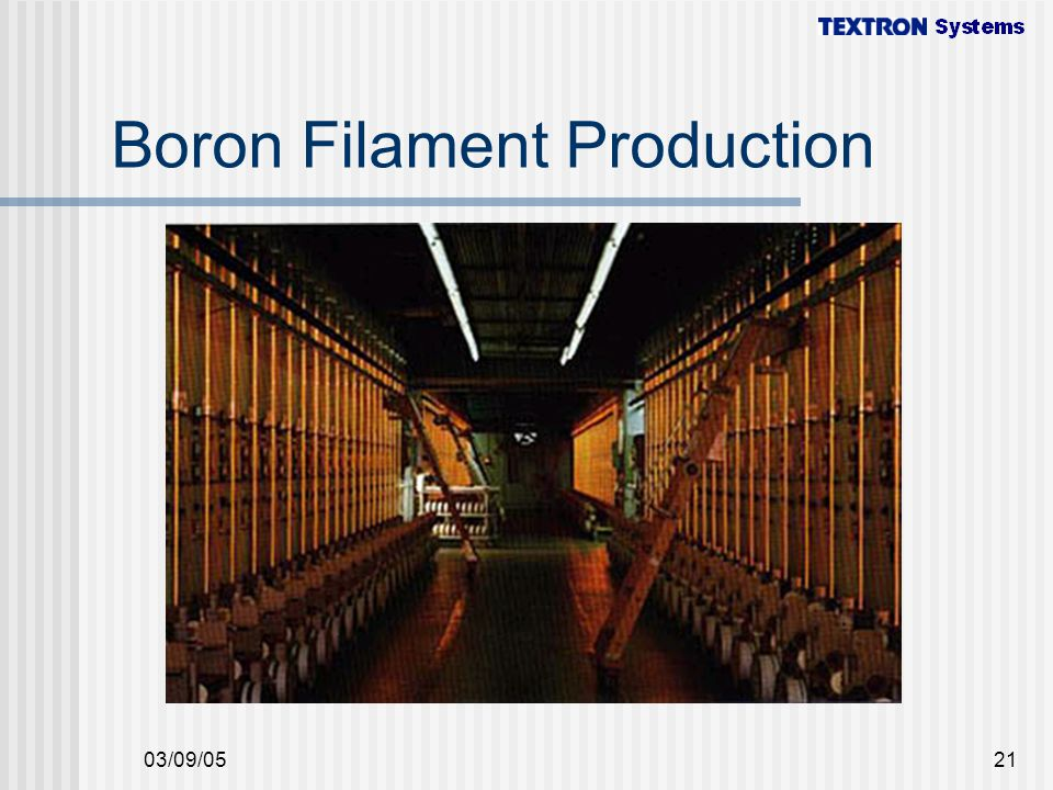 Boron Filament Production