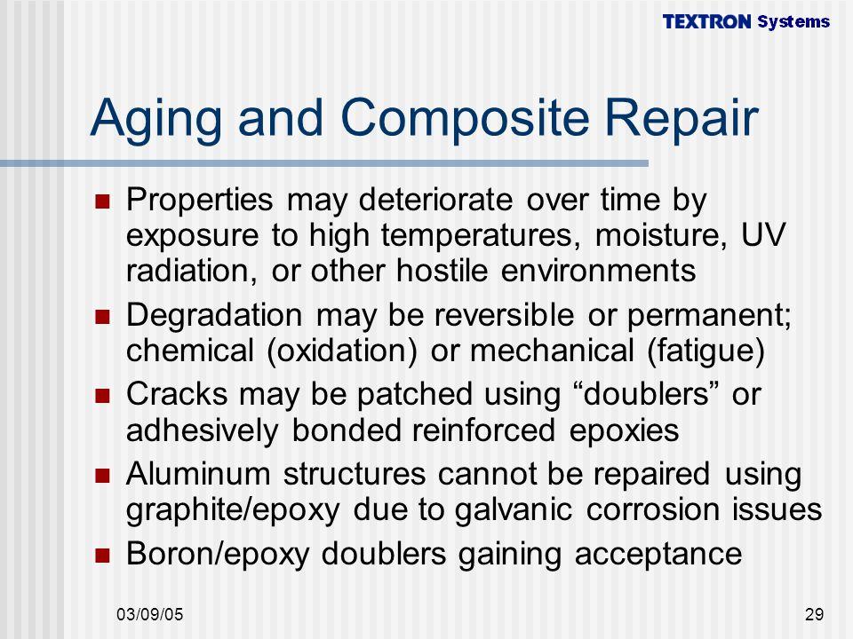 Aging and Composite Repair