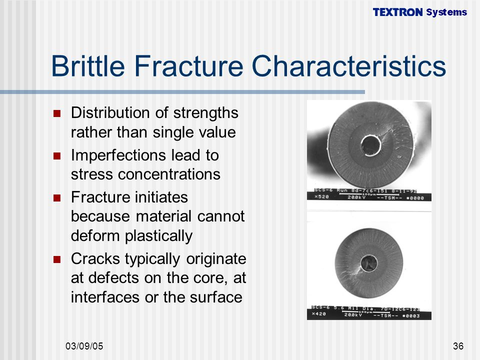Brittle Fracture Characteristics