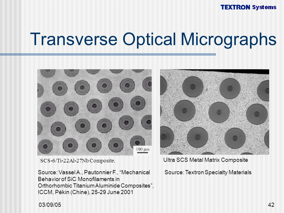 Transverse Optical Micrographs