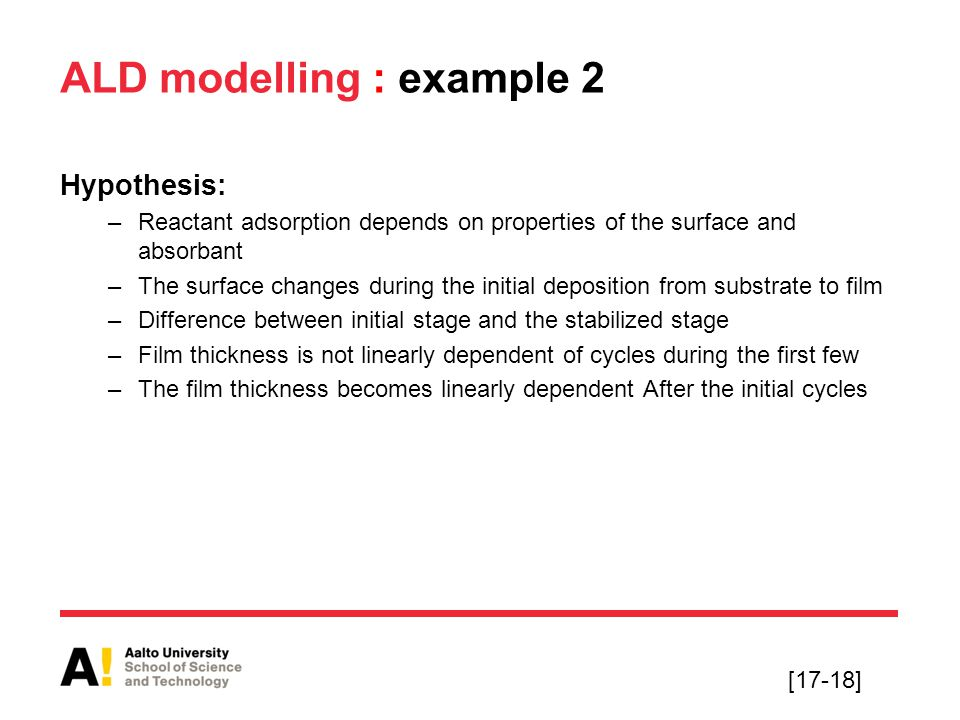 ALD modelling : example 2