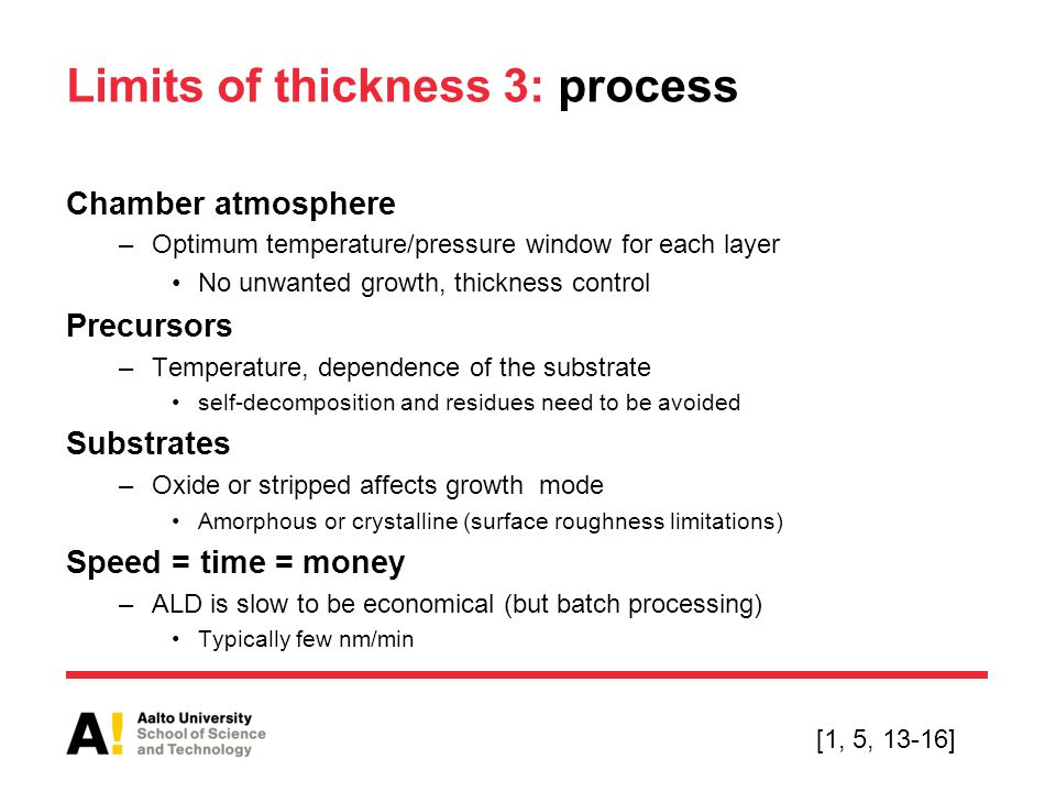 Limits of thickness 3: process