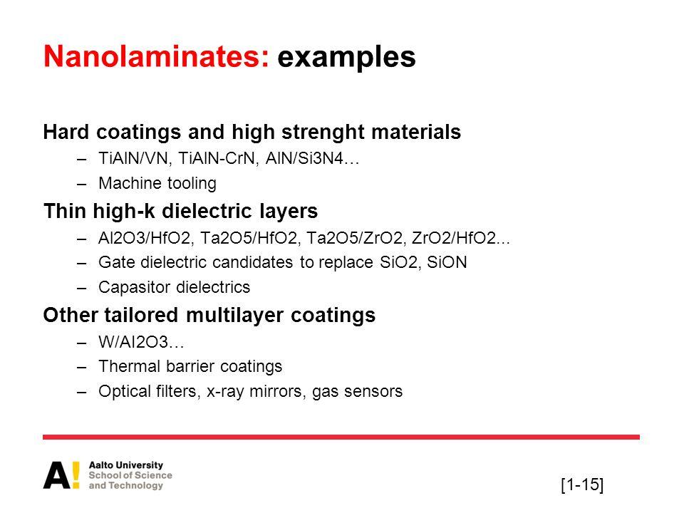 Nanolaminates: examples